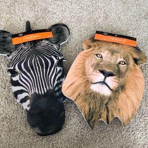 Zebra and Lion Adult Halloween Masks